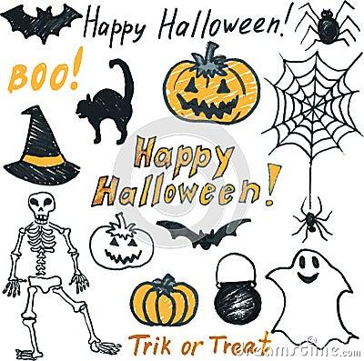 Doodle halloween set