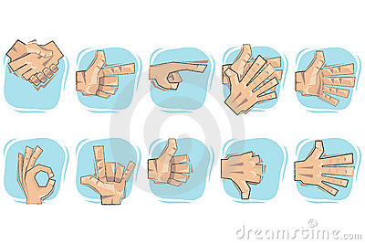 Doodle Hand Sign Icons