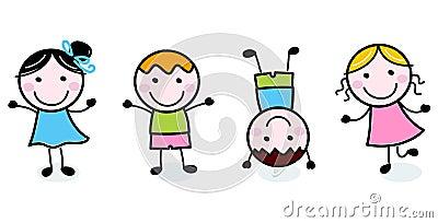 Doodle happy kids group