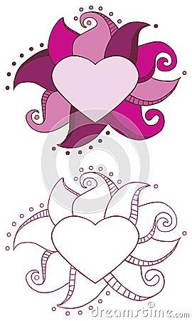 Doodle Heart Frame