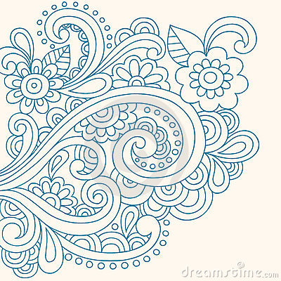 Free Doodle Henna Abstract Flowers And Swirls Vector Stock Photo - 11298560