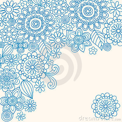 Free Doodle Henna Abstract Flowers Vector Royalty Free Stock Photography - 10889447