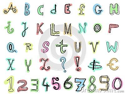 Doodle letters