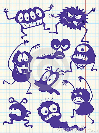 Doodle monsters-
