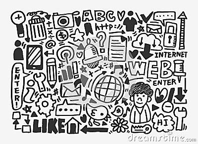 Doodle network pattern
