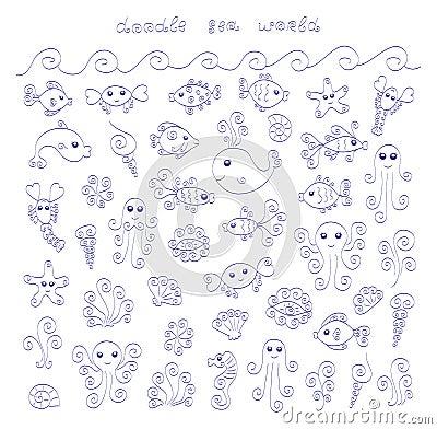 Doodle Sea World Stock Photos Image 32944003