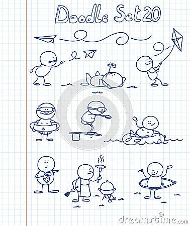 Free Doodle Set 20 Royalty Free Stock Photo - 17596825