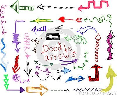 Doodle set - arrows,  vector