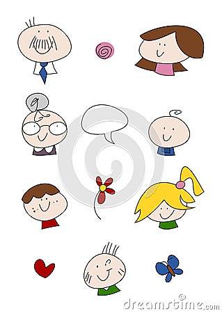 Doodle Set: Family