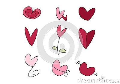 Doodle Set: Hearts