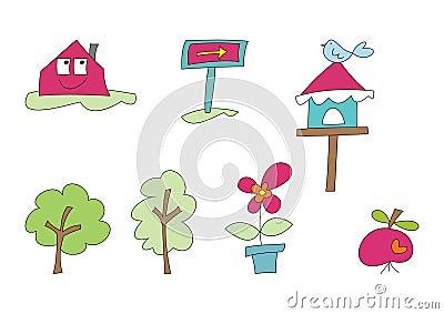 Doodle Set: Home and Garden (II)