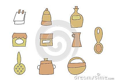 Doodle Set: Kitchen items