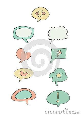Doodle Set: Speech bubbles