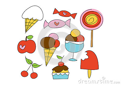 Doodle Set: Sweet things