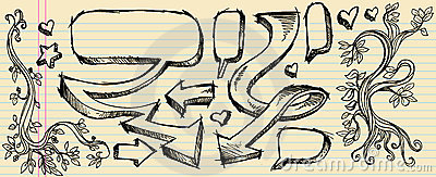 Doodle Sketch Speech Bubble Boarder