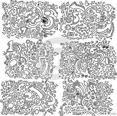 Free Doodle Sketch Vector Set Stock Photos - 12429993