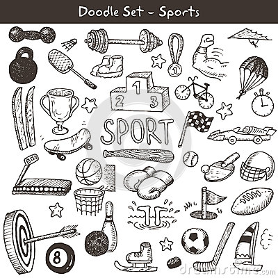 Free Doodle Sports. Royalty Free Stock Image - 34429446