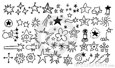 Doodle star element set