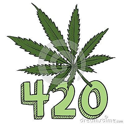 Marijuana 420 sketch