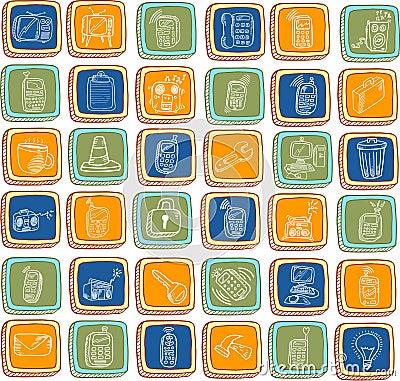 Doodle Technology Electronics Buttons