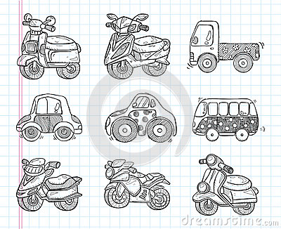 Doodle transport  icon