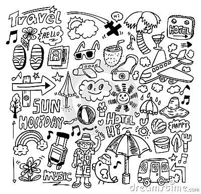 Free Doodle Travel Stock Photos - 16449213