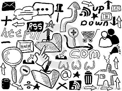 Doodle web elements