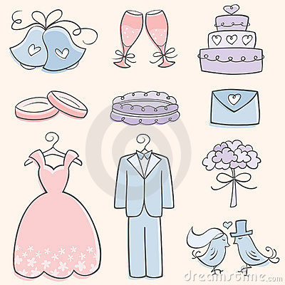 Free Doodle Wedding Elements Stock Images - 16625924