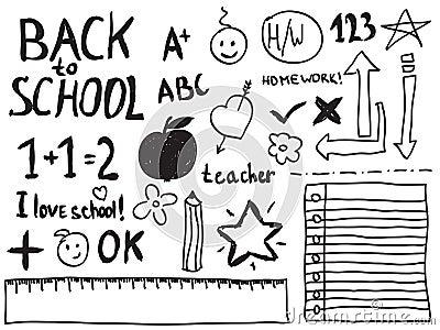 Doodles da escola