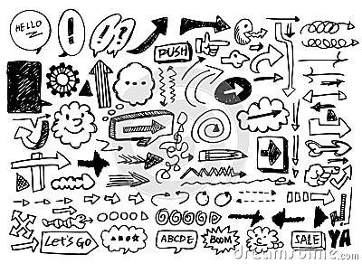 Doodles de la flecha