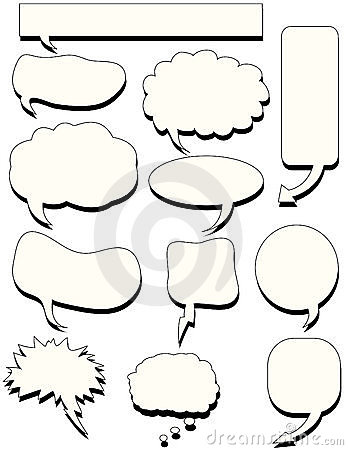 Doodles speech bubble talk