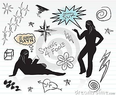 Doodles szkoły średniej