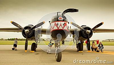 Doolittle B-25 Bomber Shark Paint Job Editorial Image