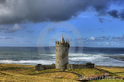 Doonagore castle in doolin , Ireland.