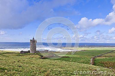 Doonagore castle near Doolin - Ireland.