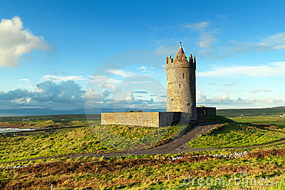 Doonagore castle near Doolin, Ireland