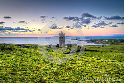 Doonagore castle at sunset in Co. Clare