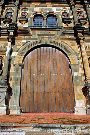 Door of a Cathedral in Panama city