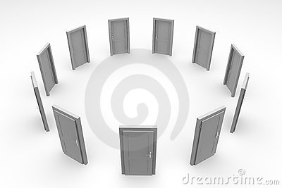 Door Circle - Closed Grey Door