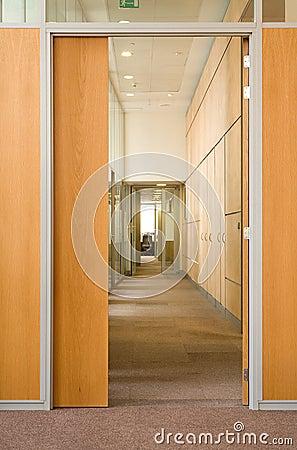 Door in a corridor