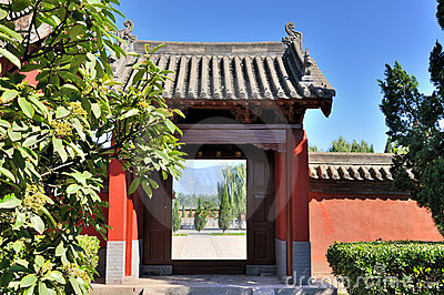 Door and court view of Chinese garden