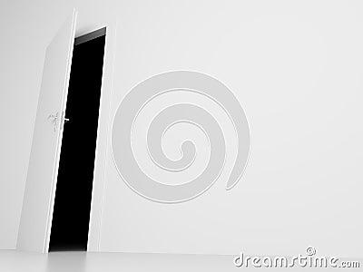 Door into darkness view