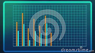 Door de computer geproduceerd schot van grafiek, presentatie van analytische onderzoeksresultaten royalty-vrije illustratie