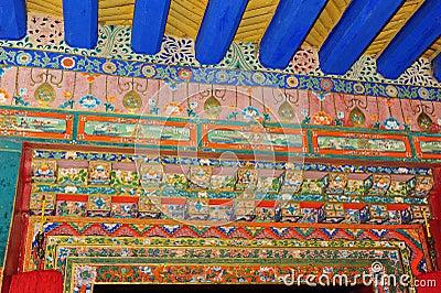 Door Decoration in Norbulingka, Lhasa
