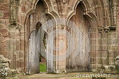 Door detail of Tintern Abbey
