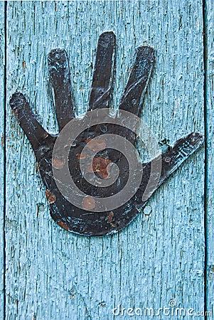 Door details with hand