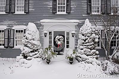 Door entrance on colonial