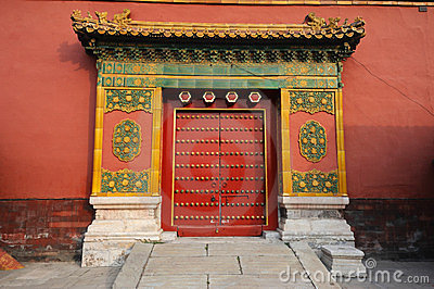 Door in The Forbidden City (Gu Gong)