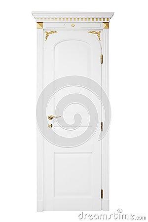 Door with a golden ornament