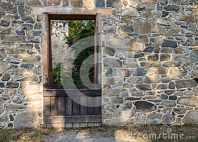 Door of Granary at Red Rock Wilderness Ruins Virginia